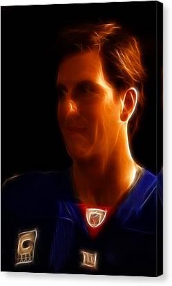 Eli Manning - New York Giants - Quarterback - Super Bowl Champion Canvas Print by Lee Dos Santos