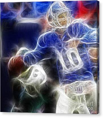 Eli Manning Ny Giants Canvas Print by Paul Ward