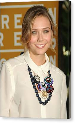 Elizabeth Olsen At Arrivals Canvas Print by Everett