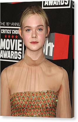 Elle Fanning At Arrivals For 16th Canvas Print by Everett