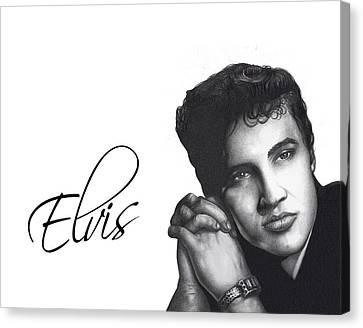 Elvis Canvas Print by Lee Appleby