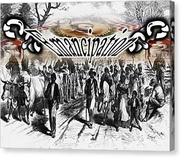 Emancipation Canvas Print by Belinda Threeths