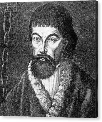 Emelvan Pugachev 1726-1775, Leader Canvas Print by Everett