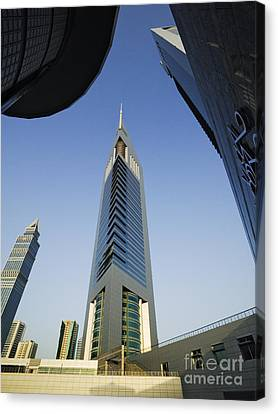 Emirates Tower At Sunrise Canvas Print by Jeremy Woodhouse