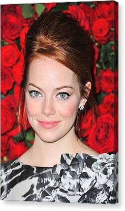 Emma Stone At Arrivals For Momas 4th Canvas Print by Everett