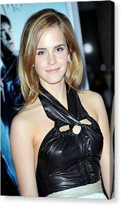 Emma Watson Wearing A Proenza Schouler Canvas Print by Everett