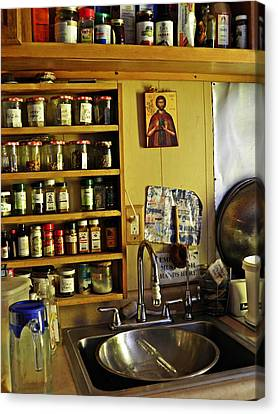 Emmaus House Kitchen Canvas Print by Sarah Loft