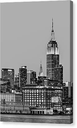 Empire State Bw Canvas Print by Susan Candelario