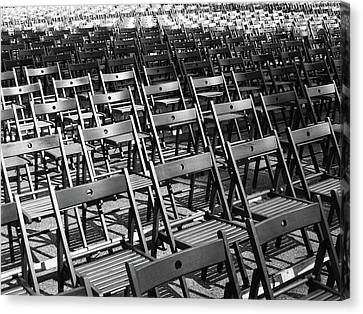 Empty Chairs Canvas Print by Christoph Hetzmannseder