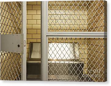 Empty Jail Holding Cell Canvas Print by Jeremy Woodhouse