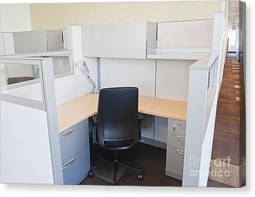Empty Office Cubicle Canvas Print by Jetta Productions, Inc