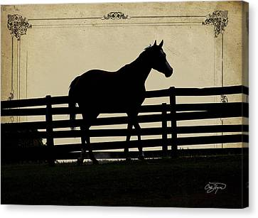 End Of The Day In Georgia - Horse Lovers Must See - Artist Cris Hayes Canvas Print by Cris Hayes