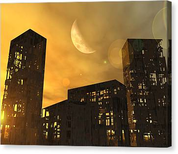 End Of The World, Conceptual Artwork Canvas Print by Take 27 Ltd
