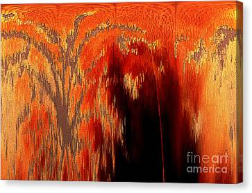 Endless Pit Canvas Print by Donna Brown
