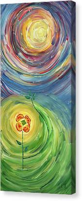 Energy Flower Canvas Print by Erik Tanghe