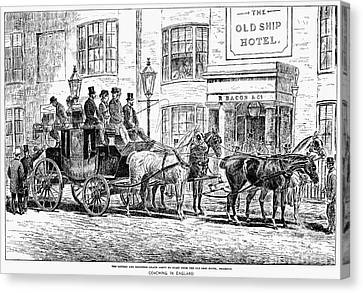 England: Coaching, 1876 Canvas Print by Granger