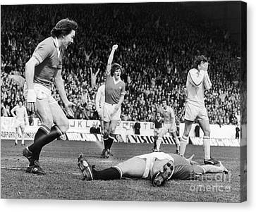 England: Soccer Game, 1977 Canvas Print by Granger