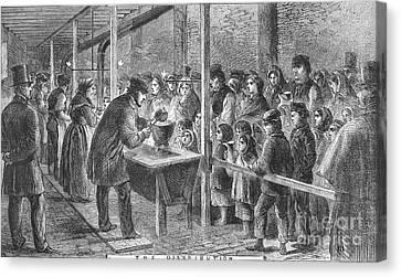 England: Soup Kitchen, 1862 Canvas Print by Granger