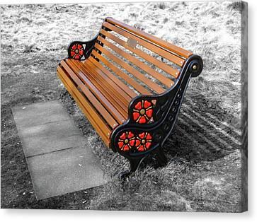 English Bench Canvas Print by Roberto Alamino