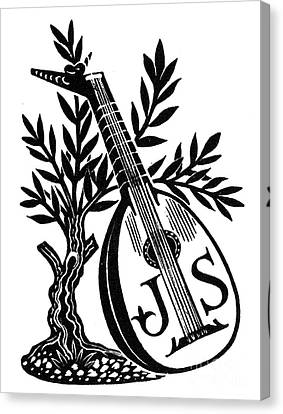 English Bookplate Canvas Print by Granger