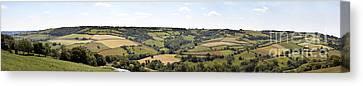 English Countryside Panorama Canvas Print by Jane Rix