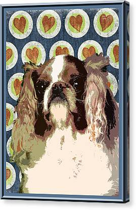 English Toy Spaniel Canvas Print by One Rude Dawg Orcutt