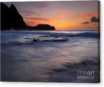 Engulfed By The Sea Canvas Print by Mike  Dawson