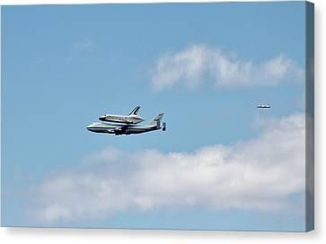 Enterprise Flyby Canvas Print by Rita Tortorelli