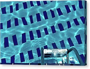 Entrance To Pool Canvas Print by Daniel Kulinski