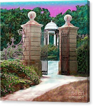 Entrance To The Garden Canvas Print by Earl Jackson