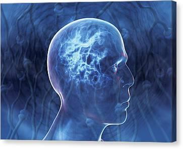 Epilepsy, Conceptual Artwork Canvas Print by David Mack