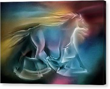 Equus Caballuscomp 1984 Canvas Print by Glenn Bautista