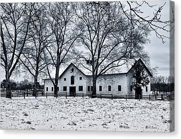 Erdenheim Farm In The Snow Canvas Print by Bill Cannon