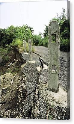 Erosion Canvas Print by David Nunuk