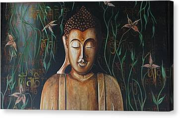 Essence Of Tranquility Canvas Print by Tanuja Chopra