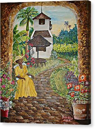 Estate Garden Canvas Print by Trister Hosang
