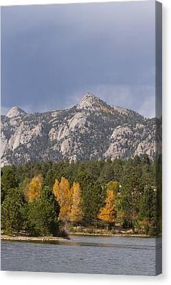 Estes Park Autumn Lake View Vertical Canvas Print by James BO  Insogna