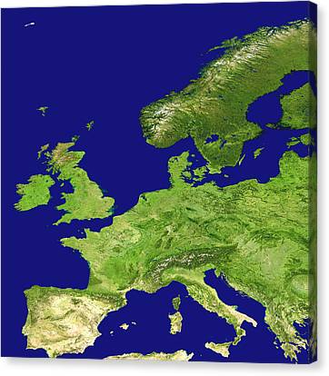 Europe, Satellite Image Canvas Print by Nasa