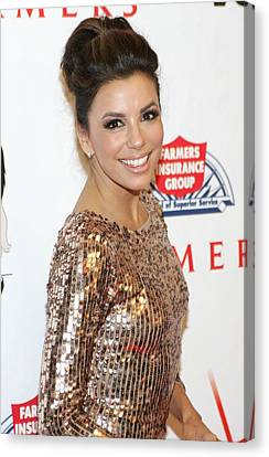 Eva Longoria In Attendance For Padres Canvas Print by Everett