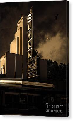 Evening At The Lark - Larkspur California - 5d18484 - Sepia Canvas Print by Wingsdomain Art and Photography