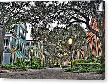 Evening Campus Stroll Canvas Print by Andrew Crispi