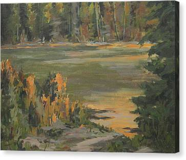 Evening Marsh Canvas Print by Mike Stocker