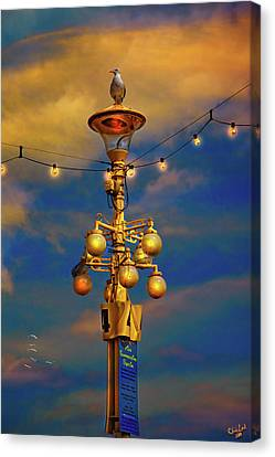 Evening On The Seafront In Eastbourne Canvas Print by Chris Lord