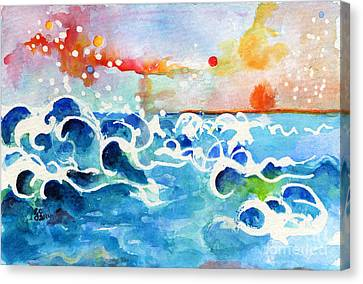 Evening Tide Canvas Print by Ginette Callaway