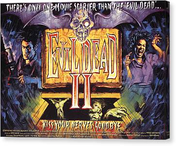 Evil Dead II, Left, Bruce Campbell Canvas Print by Everett