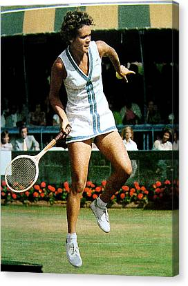 Evonne Goolagong Canvas Print by John Loyd Rushing