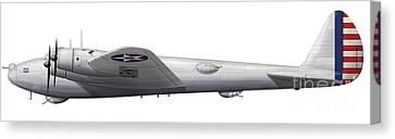 Experimental Boeing Xb-15 Bomber Canvas Print by Chris Sandham-Bailey