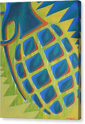 Explosion Of Color Canvas Print by Landon Clary