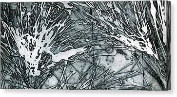 Explosion Canvas Print by Rebecca Bourke