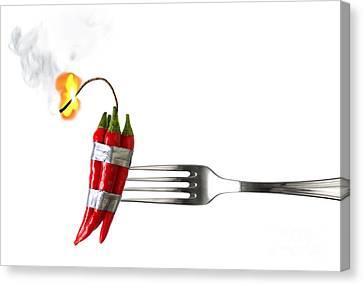 Explosive Food Canvas Print by Carlos Caetano